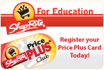 ShopRite for Education -- Register your Price Plus® Card Today!